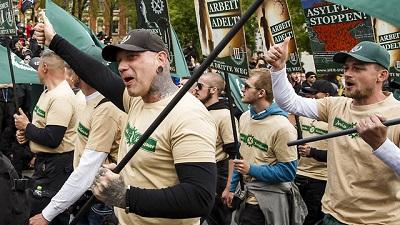 Skrajnie prawicowa demonstracja(Zdjęcie: Gettyimages)