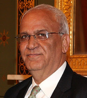 Saeb Erekat. Z British Foreign and Commonwealth Office.