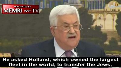 """Prezydent Autonomii Palestyńskiej Mahmoud Abbas, którego zachodnie media i politycy często określają jako """"umiarkowanego"""" i """"pragmatycznego"""", cytował w zeszłym roku egipskiego intelektualistę, Abdel-Wahaba El-Messiriego, że Izrael \"""