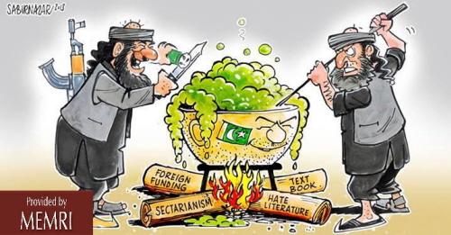 29 listopada 2013: karykatura pokazująca składniki świadomości pakistańskiej