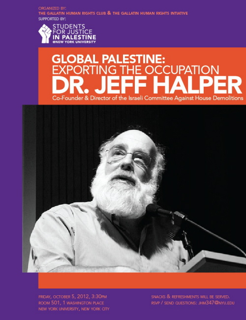 "Kto to jest, Fidel Castro? Nie, to jest Jeff Halper z ""Israeli Committee Against House Demolitions""."