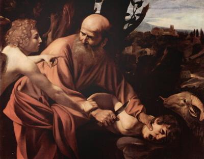 Ofiarowanie Izaaka (Caravaggio 1603, źródło wikipedia)