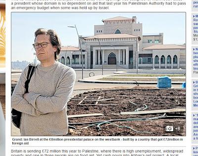 Skromność nie należy do ich priorytetów. Pełna przepychu rezydencja jest obecnie budowana w Ramallah. Podpis w artykule w Daily Mail brzmi: \