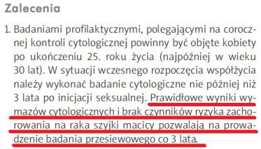 Rekomendacje Polskiego Towarzystwa Ginekologicznego dotyczące diagnostyki, profilaktyki i wczesnego wykrywania raka szyjki macicy 2006