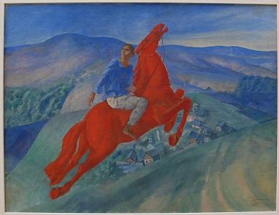 """Kuźma Pietrow-Wodkin,""""'Fantazja"""", 1925, olej na płótnie, Rosyjskie Muzeum/Wikipedia"""