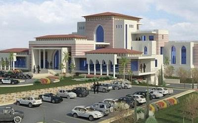 <span><span>Pałac prezydenta Autonomii Palestyńskiej, M. Abbasa, który po burzy palestyńskich protestów przeznaczył jednak na biblioteką narodową. </span></span><span></span>