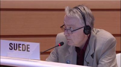 Delegat szwedzki przyłącza się do Wielkiej Brytanii, Francji, Niemiec i innych państw UE w potępieniu Izraela na zgromadzeniu WHO w 2016 r.