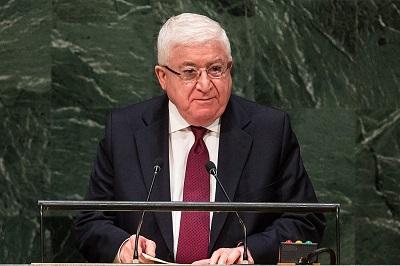 """W 2018 roku ówczesny prezydent Iraku, Fuad Masum, zaaprobował Prawo Nr 76 z 2017 roku, które odbiera Palestyńczykom żyjącym w Iraku ich prawa i klasyfikuje ich jako """"cudzoziemców"""". (Zdjęcie: Andrew Burton/Getty Images)"""