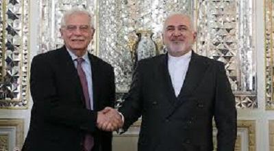 Potępiając zabicie irańskiego naukowca, Mohsena Fachrizadeha, uważanego za ojca nowoczesnego programu broni nuklearnej Iranu, Unia Europejska znalazła się po stronie grup terrorystycznych, takich jak Hezbollah, Hamas i Palestyński Islamski Dżihad. Na zdjęciu: Minister spraw zagranicznych Iranu, Dżavad Zarif spotyka się z Josepem Borrellem, Wysokim przedstawicielem Unii do spraw zagranicznych i polityki bezpieczeństwa, w Teheranie 3 lutego 2020 roku. (Zdjęcie: Iranpress)