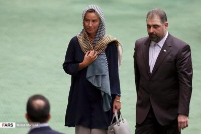 Odpowiedzialna za politykę zagraniczną Unii Europejskiej Federica Mogherini z wizytą w Teheranie z okazji inauguracji prezydenta państwa obiecującego zagładę innego państwa.