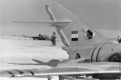 Uziemione samoloty egipskie.