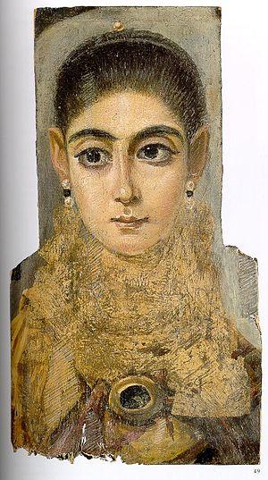 Portret Koptyjki na sarkofagu, 3 wiek naszej ery, Louvre.