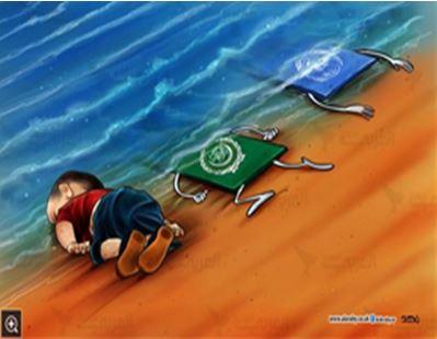 """Śmierć tego chłopca jest także śmiercią Ligi Arabskiej i ONZ. (""""Al-Arabi Al-Jadid"""", Londyn, 5 września 2015)"""