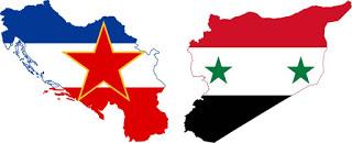 """""""Jugosławia"""" i """"Syria"""": różne flagi, podobny problem."""