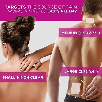 Luminas Pain Relief Patches: Tutaj jest pretekst, by pokazać częściowo nagie ciała.