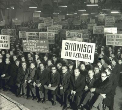Dzisiejszy zachodni antysyjonizm w Poslce był dobrze rozwinięty już w 1968 roku.
