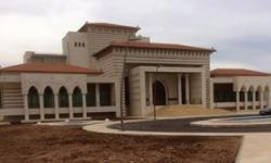 """Na zdjęciu: """"Prezydencki pałac"""" Mahmouda Abbasa za 17,5 miliona dolarów w pobliżu Ramallah. W obliczu krytyki tego projektu, Abbas postanowił zamienić pałac w olbrzymią bibliotekę narodową. (Zdjęcie: Palestinian Economic Council for Development and Reconstruction)"""