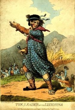 Luddysta, karykatura z pocz�tków XIX wieku.
