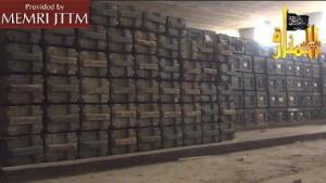 Skrzynie z amunicją przechwycone przez Dżabhat Al-Nusra w składzie broni Mahin