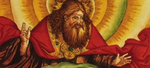 Bóg stwarza świat, Fronda(Płaszcz i ozdoby wyrób własny - dopisek red. \