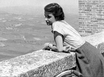 <span>Franklin na wakacjach w Toskanii, 1950.</span>