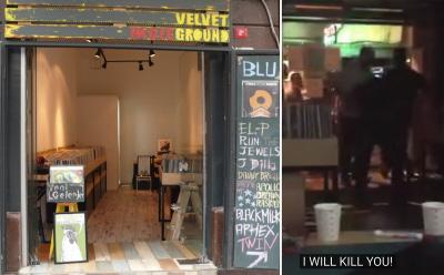 17 czerwca grupa mężczyzn zaatakowała sklep z płytami, Velvet Indieground, w Stambule, ponieważ rozgniewało ich, że kilkoro ludzi w małym sklepie piło alkohol podczas ramadanu. Po prawej, Seogu Lee, koreański właściciel sklepu, bity przez kilku atakujących.