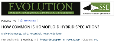How common is homoploid hybrid speciation?