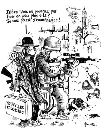"""Współczesna karykatur antysemicka – z francuskiego dziennika """"Le Monde"""""""