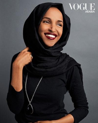 <span>Kongresmenka Ilhan Omar, (D-MN5), na okładce Vogue Arabia.</span>