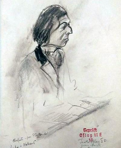 <span>Rysunek Z. Karolaka, przedstawiający B.Płotnickiego</span>