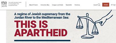 [Reżim żydowskiej supremacji od rzeki Jordan do Morza Śródziemnego:TO JEST APARTHEID]