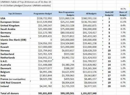 Przygotowaliśmy tę tabelę, biorąc dane opublikowane przez UNRWA i dokonując podstawowych interpretacji statystycznych