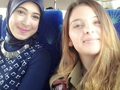 Selfie w izraelskim autobusie.