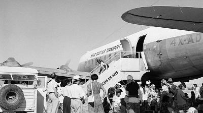 1950: Jemeńscy Żydzi ewakuowani samolotami do Izraela w Operacji Magic Carpet (zdjęcie: Fritz Cohen/Israel Government Press Office)