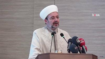 Mehmet Gormez, prezes Najwyższej Izby ds. Religijnych Turcji. (Zdjęcie: zrzut z ekranu z wideo İlke Habera)