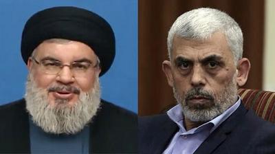 Nasrallah i Sinwar(Zdjęcia: AP)