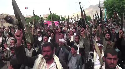 Bojówkarze Huti w 2015r. mieli jeszcze prymitywną broń i nie byli umundurowani. Dziś wygladają bardziej atrakcyjnie i trudno sobie wyobrazić, żeby byli terrorystami -https://twitter.com/i/status/1324417310568960001(Zdjęcie Wikimedia Commons)