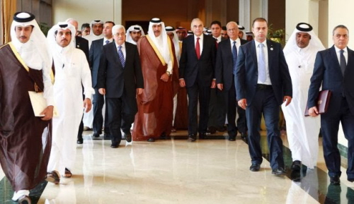 Doha 2012 - Nadzwyczajna Konferencja w Sprawie Funduszy dla Palestyńczyków. <br /> [Zdjęcie: Reuters]