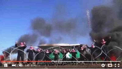 From the Palestinian musical video, 'The Roof of the Bus Goes Flying'