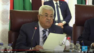 Zaproponowane przez prezydenta Autonomii Palestyńskiej, Mahmouda Abbasa palestyńskie wybory, są częścią planu oszukania społeczności międzynarodowej, szczególnie USA i UE, by uwierzyli, że Palestyńczycy mówią poważnie o przeprowadzeniu dużych reform, kończąc finansową i administracyjną korupcję i angażując się w kolejny proces pokojowy z Izraelem. Na zdjęciu: Abbas 2 lutego 2020 zapowiada zerwanie umowy o bezpieczeństwie z Izraelem. (Zdjęcie: zrzut z ekranu z wideo)