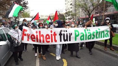 Manifestacja w Berlinie 14 maja 2021r.