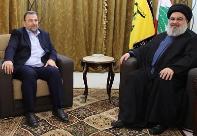 Nasrallah z człowiekiem numer 2 Hamasu
