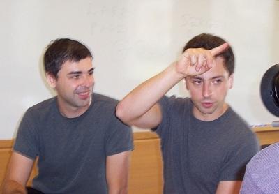 Larry Page i Sergey Brin, założyciele Google Inc. wrzesień 2003