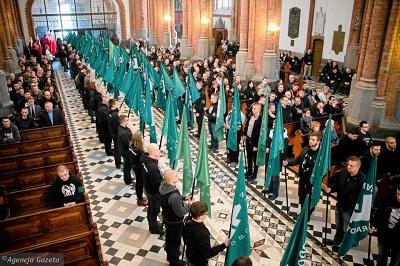 Z okazji Marszu ONR odbyła sie msza święta w białostockiej katedrze. (2016)